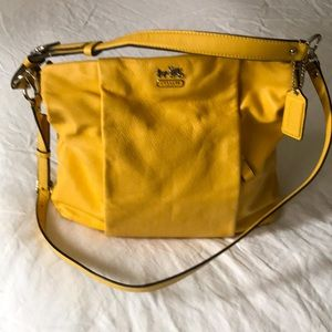 Coach purse. Soft yellow. 2 straps.